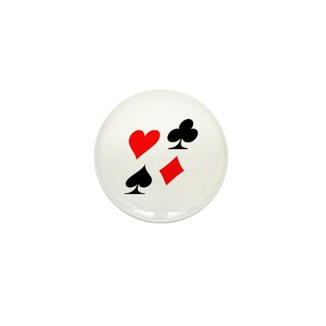 Poker suits Mini Button (10 pack)