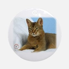 Abyssinian Cat 9Y009D-020 Ornament (Round)