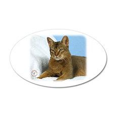 Abyssinian Cat 9Y009D-020 22x14 Oval Wall Peel
