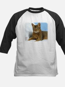 Abyssinian Cat 9Y009D-020 Kids Baseball Jersey