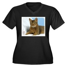 Abyssinian Cat 9Y009D-020 Women's Plus Size V-Neck