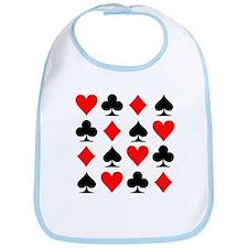 Poker cards Bib