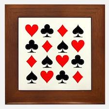 Poker cards Framed Tile