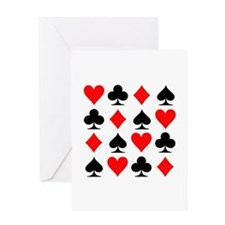 Poker cards Greeting Card