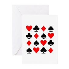 Poker cards Greeting Cards (Pk of 10)