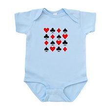 Poker cards Infant Bodysuit
