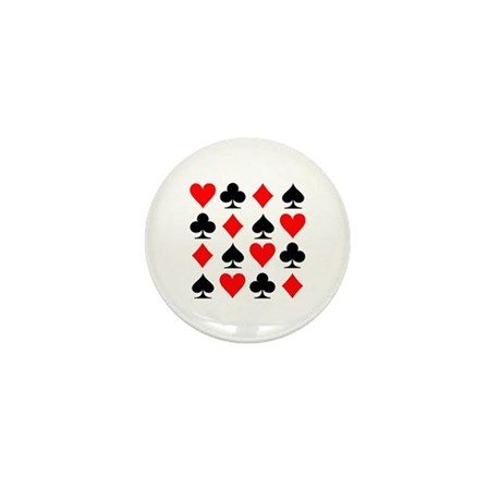 Poker cards Mini Button (10 pack)