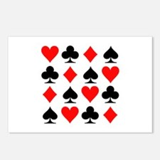Poker cards Postcards (Package of 8)