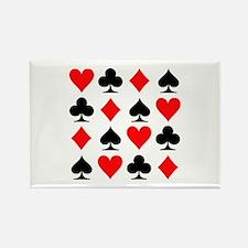Poker cards Rectangle Magnet