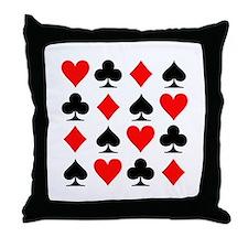 Poker cards Throw Pillow