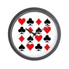 Poker cards Wall Clock