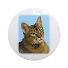 Abyssinian Cat 9Y009D-036 Ornament (Round)