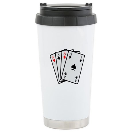 Poker cards Stainless Steel Travel Mug