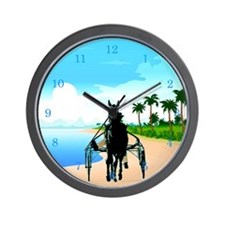 Tropical Trotter Wall Clock