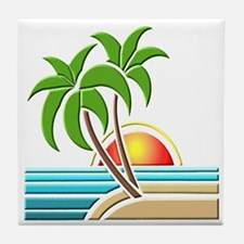 Palm Trees Tile Coaster