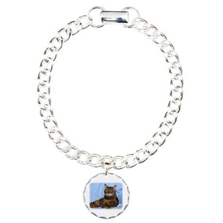 Bengal Cat 9W052D-018 Charm Bracelet, One Charm