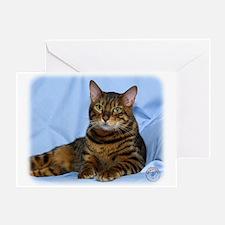 Bengal Cat 9W052D-018 Greeting Card