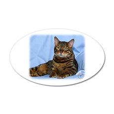 Bengal Cat 9W052D-018 22x14 Oval Wall Peel