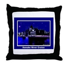 Danube River Cruise Throw Pillow