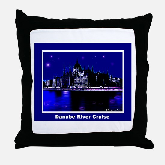 Danube River Cruise Throw Pillow