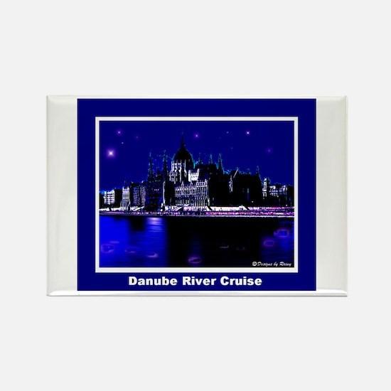 Danube River Cruise Rectangle Magnet