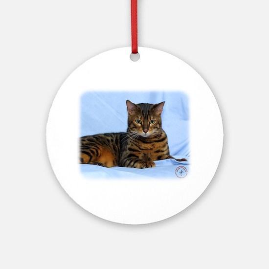 Bengal Cat 9W052D-023 Ornament (Round)