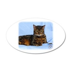 Bengal Cat 9W052D-023 22x14 Oval Wall Peel
