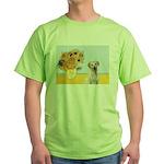 Sunflowers-Yellow Lab 7 Green T-Shirt