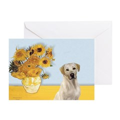 Sunflowers-Yellow Lab 7 Greeting Cards (Pk of 20)
