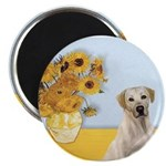Sunflowers-Yellow Lab 7 Magnet