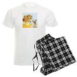 Sunflowers-Yellow Lab 7 Men's Light Pajamas