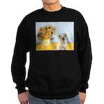 Sunflowers-Yellow Lab 7 Sweatshirt (dark)