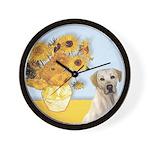 Sunflowers-Yellow Lab 7 Wall Clock