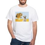 Sunflowers-Yellow Lab 7 White T-Shirt