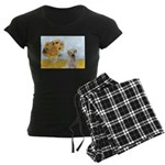 Sunflowers-Yellow Lab 7 Women's Dark Pajamas