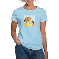 Sunflowers-Yellow Lab 7 T-Shirt