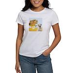 Sunflowers-Yellow Lab 7 Women's T-Shirt
