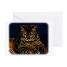 Bengal Cat 9W080D-128 Greeting Card