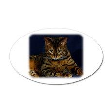 Bengal Cat 9W080D-128 22x14 Oval Wall Peel