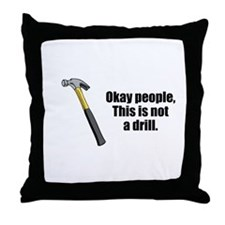 Drill Throw Pillow