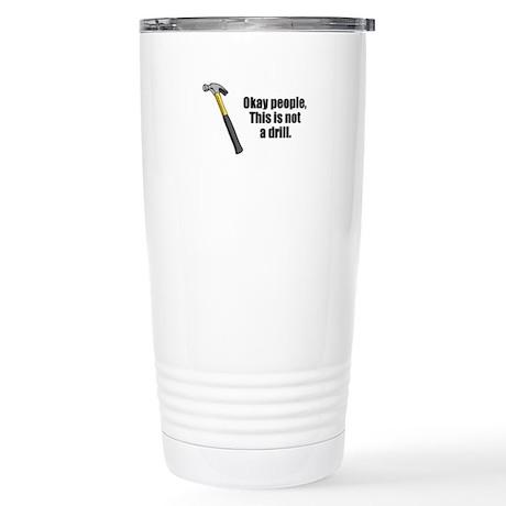 Drill Stainless Steel Travel Mug