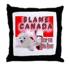 Blame Canada Throw Pillow
