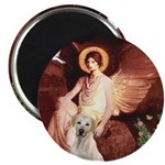 Seated Angel-Yellow Lab 7 Magnet