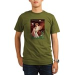 Seated Angel-Yellow Lab 7 Organic Men's T-Shirt (d