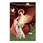 Seated Angel-Yellow Lab 7 Postcards (Package of 8)