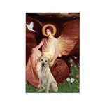 Seated Angel-Yellow Lab 7 Rectangle Magnet