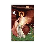 Seated Angel-Yellow Lab 7 Sticker (Rectangle)