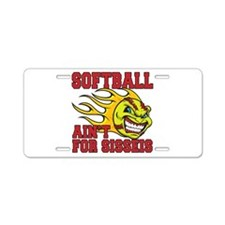 Girls Softball Aluminum License Plate