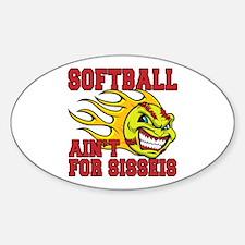 Girls Softball Sticker (Oval)