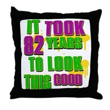 It took 82 years to look this Throw Pillow